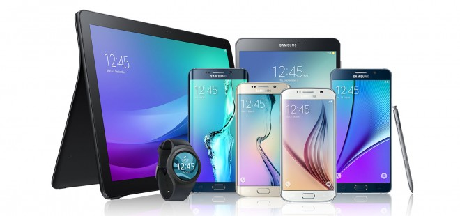 Family of Samsung Galaxy devices